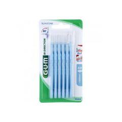 Cepillo interdental gum 2314 bi-direction micro-fino cónico 6 u