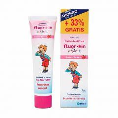 Fluor·Kin Infantil pasta dentífrica 75 + 25 ml