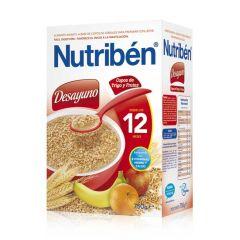 Nutribén Desayuno cereales copos de trigo y frutas 750 g