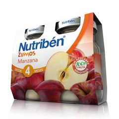 Nutribén zumo manzana pack 2x130 ml