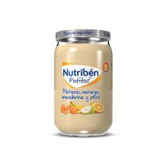 Nutribén Potito Plátano, Naranja, Mandarina y Pera 235g