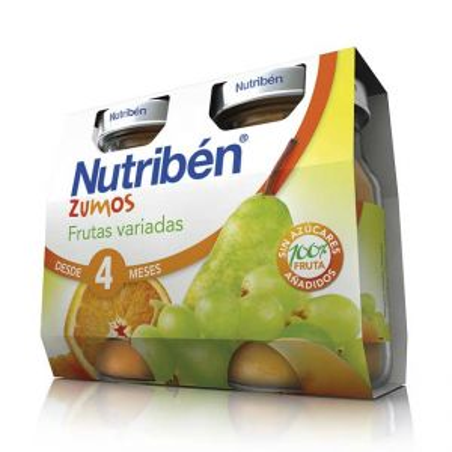 Nutribén zumo frutas variadas pack 2x130 ml